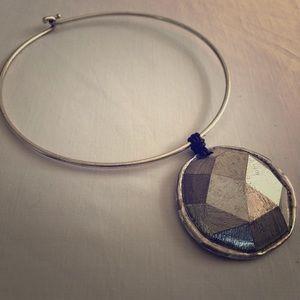 ALM SOHO Silver Tone Choker Necklace
